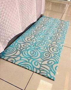 Tapete Decorativo La Casa - Turquesa 01 - 1,5m X 2,0m