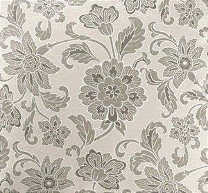 Tecido Estampado Verona - Floral Cinza 3625567