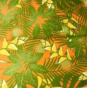 Soleil Digital - Floral Laranja/Verde