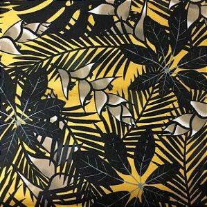 Soleil Digital - Floral Amarelo/Preto