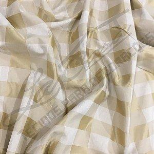 Jacquard Corttex 2,80 de largura - 7756 Xadrez Mostarda 002