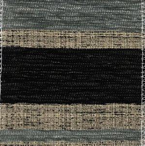 Tecido Futon Listrado Grande - Preto/Azul
