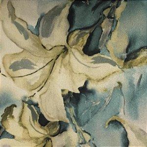 Camurça Veloa Digital 700008 - Floral Azul 02