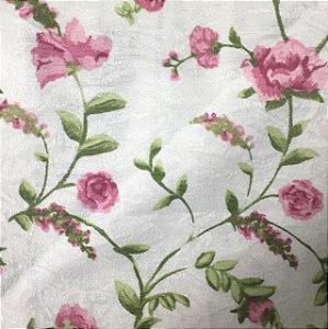Tecido Estampado Parise - Florzinha Rosa