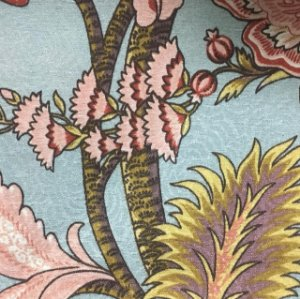 Tecido Estampado Parise - Floral Azul