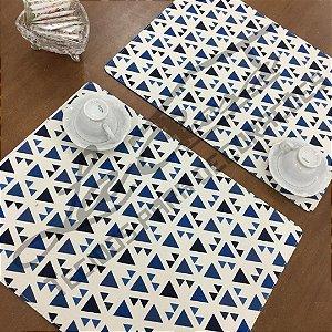 Sousplat Linho Florata - Geométrico Azul