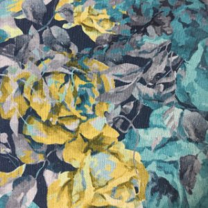 Linho Floral Digital 302016 - Turqueza 018