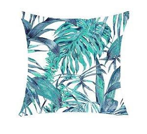 Almofada com Enchimento - Aquatec 50X50 - Floral Azul
