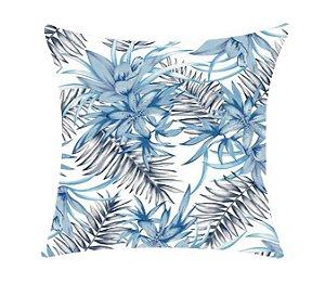 Almofada com Enchimento - Aquatec 50X50 - Florais Azul