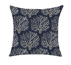 Almofada com Enchimento 50X50 - Garden Trancoso Coral Azul