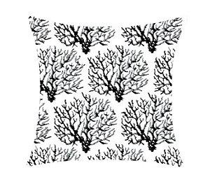 Almofada com Enchimento 50X50 - Garden Trancoso Coral Branco