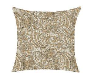 Almofada com Enchimento - Coleçao Marble Estampado Dourado - 50X50
