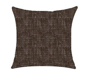 Almofada com Enchimento - Coleçao Suede Marrom Lisa - 50X50