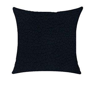 Almofada com Enchimento Veludo Skin Torck - Azul Marinho - 50X50