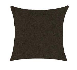 Almofada com Enchimento Veludo Elegance - Marrom - 50X50