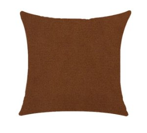 Almofada com Enchimento Veludo Elegance - Terracota - 50X50