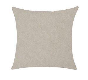 Almofada com Enchimento Veludo Elegance - Areia - 50X50
