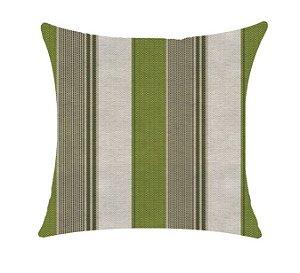 Almofada com Enchimento - Garden Linho 50X50 - Listrado Verde