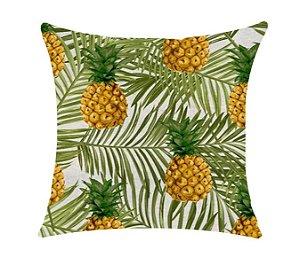 Almofada com Enchimento - Garden Linho 50X50 - Abacaxi