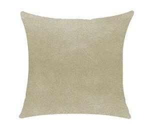 Almofada com Enchimento - Couro Star Areia 50X50