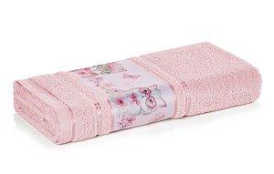 Toalha de Rosto Infantil Fio Cardado Karsten - Missi Rosé