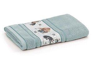 Toalha de Banho Infantil Fio Cardado Karsten - Bob Verde Miragem