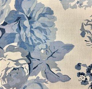 Linho 000253 Floral Azul Cor 035