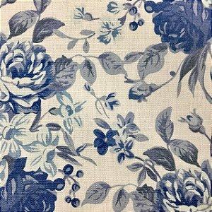 Linho 302063  Floral Romance Azul Cor 002