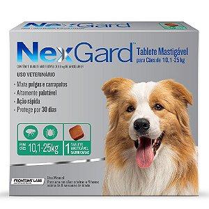 Antipulgas e Carrapatos NexGard para Cães de 10,1 A 25kg 1 comprimido