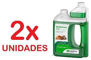Desinfetante Bactericida Herbalvet 1 Litro Kit com 2 Unidades