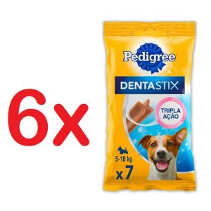 Petisco Pedigree Dentastix Cuidado Oral Para Cães Adultos Raças Pequenas Kit com 6 unidades