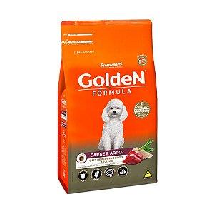 Ração Golden Fórmula Mini Bits Para Cães Adultos Pequeno Porte Sabor Carne e Arroz