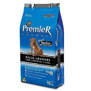 Ração Premier Fórmula Senior para Cães Adultos de Raças Grandes Sabor Cordeiro - 15kg