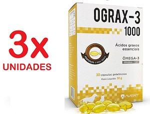 Ograx 1000mg Omega-3 Avert 30 Capsulas Cães E Gatos Kit Com 3 Unidades