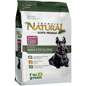 Ração Fórmula Natural Sensitive Cães Raças Mini e Pequena 1kg