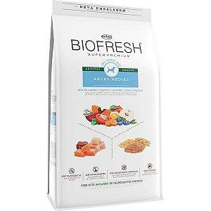 Ração Seca Biofresh Mix de Carne, Frutas, Legumes e Ervas Frescas Cães Adultos de Raças Médias