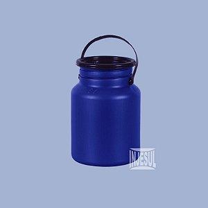 Vasilhame para Transporte de Leite 05 litros Azul