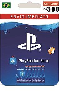 Cartão PSN R$ 300 Reais Playstation Network Brasil