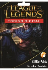 Cartão League of Legends 525 Riot Points