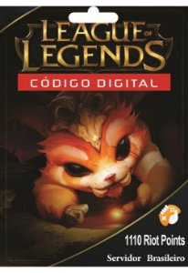 Cartão League of Legends 1100 Riot Points