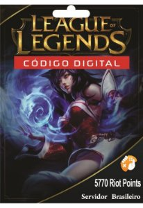 Cartão League of Legends R$ 100 - 5770 Riot Points