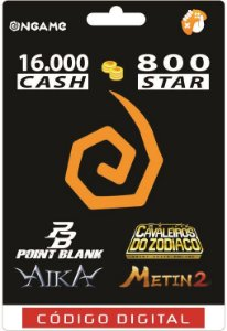 OnGame: 16.000 Cash / 800 Star: Point Blank, AIKA, Metin 2 e CDZ