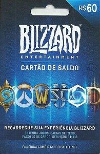 Cartão Blizzard Battle.Net R$ 60 Reais