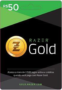 Razer Gold PIN Rixty - Cartão R$ 50