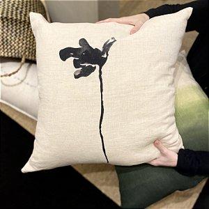 Almofada Flor de Lágrima cor preta