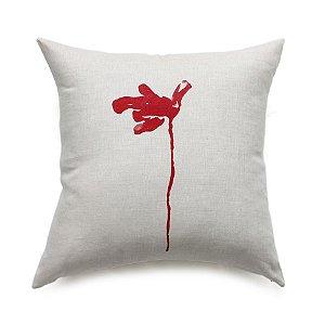 Almofada Flor de Lágrima cor vermelha