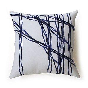Almofada Interseções cor azul