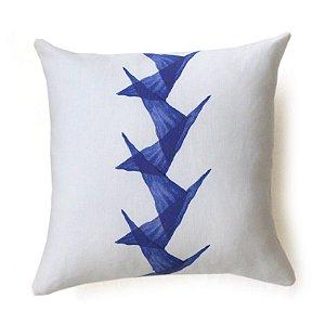 Almofada Tsuru cor azul