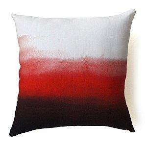 Almofada Horizonte cor vermelha