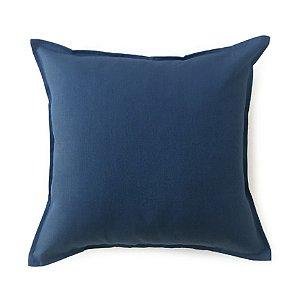 Almofada lisa azul petróleo